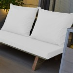 ספסל זולה זוגי צבע לבן שלג 106 להמחשה בלבד
