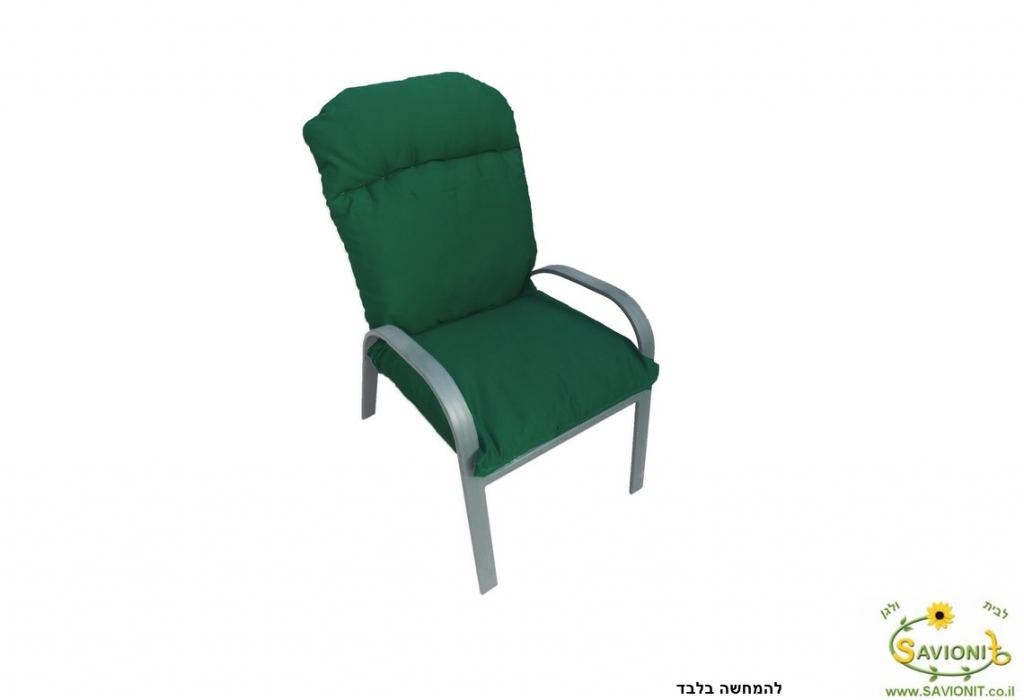 ריפוד לכיסא גן מבד דוחה מים ירוק צבע 117 להמחשה בלבד