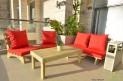 פינת זולה ענקית מושבים חלקים צבע אדום