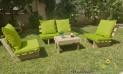 סט קלאסיקו ריפודים חלקים דוחה מים צבע ירוק תפוח 109 להמחשה בלבד