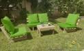 סט קלאסיקו ריפודים חלקים דוחה מים צבע ירוק דשא 124 להמחשה בלבד