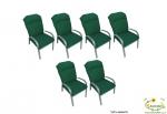 סט 6 ריפודים לכיסא גינה צבע ירוק