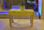 """שולחן עץ לפינת זולה 60X40 ס""""מ להמחשה בלבד"""