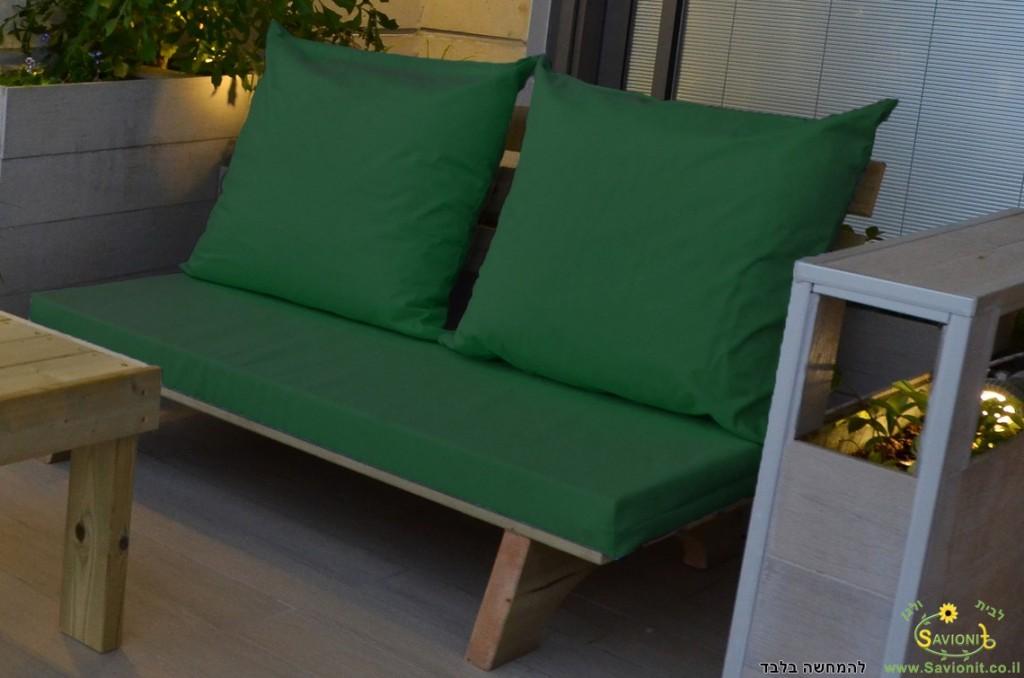 ספסל זולה זוגי צבע ירוק 117 להמחשה בלבד