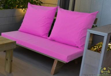 ספסל זולה זוגי צבע ורוד פוקסיה 115 להמחשה בלבד