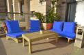 פינת זולה ענקית מושבים חלקים צבע כחול