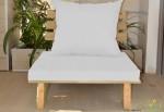 ספסל זולה יחיד + ריפוד בצבע לבן 119 להמחשה בלבד