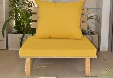 ספסל זולה יחיד + ריפוד בצבע חרדל 111 להמחשה בלבד