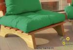 מזרן קפיטונז' בודד צבע ירוק דשא