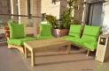 פינת זולה ענקית מושבי קפיטונז' דוחה מים צבע ירוק תפוח