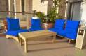פינת זולה ענקית מושבי קפיטונז' דוחה מים צבע כחול רויאל