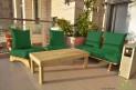 פינת זולה ענקית מושבי קפיטונז' דוחה מים צבע ירוק בקבוק