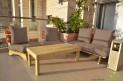 פינת זולה ענקית מושבי קפיטונז' דוחה מים צבע בז' כהה