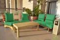 פינת זולה ענקית מושבי קפיטונז' דוחה מים צבע ירוק דשא
