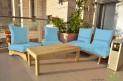 פינת זולה ענקית מושבי קפיטונז' דוחה מים צבע תכלת
