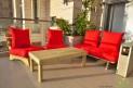 פינת זולה ענקית מושבי קפיטונז' דוחה מים צבע אדום