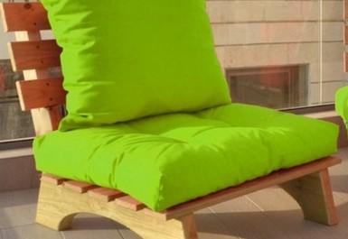 ספסל זולה קפיטונז' דוחה מים צבע 109 ירוק תפוח להמחשה בלבד
