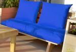 ספסל זולה זוגי קפיטונז' דוחה מים צבע 107 כחול רויאל להמחשה בלבד
