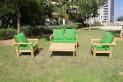 סט זולה גבוה עם ידיות מושבים חלקים צבע ירוק דשא