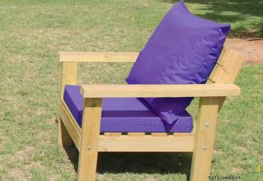 ספסל זולה גבוה עם ידיות ומושב חלק צבע סגול
