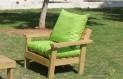 ספסל זולה גבוה עם ידיות ומושב קפיטונז' צבע ירוק יתפוח