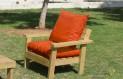 ספסל זולה גבוה עם ידיות ומושב קפיטונז' צבע כתום
