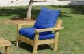 ספסל זולה גבוה עם ידיות ומושב קפיטונז' צבע כחול