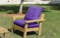 ספסל זולה גבוה עם ידיות ומושב קפיטונז' צבע סגול