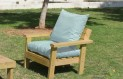 ספסל זולה גבוה עם ידיות ומושב קפיטונז' צבע תכלת