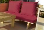 ספסל זולה עם מושב חלק צבע בורדו