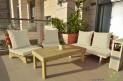 פינת זולה ענקית מושבים חלקים צבע שמנת