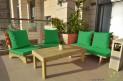 פינת זולה ענקית מושבים חלקים צבע ירוק דשא
