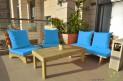 פינת זולה ענקית מושבים חלקים צבע טורקיז