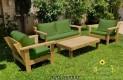 סט פינת ישיבה וויד מזרנים חלקים וכריות מזוודה צבע ירוק זית 105 להמחשה בלבד