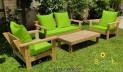סט פינת ישיבה וויד צבע ירוק תפוח 109 להמחשה בלבד