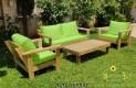 סט פינת ישיבה וויד מזרנים חלקים וכריות מזוודה צבע ירוק תפוח 109 להמחשה בלבד