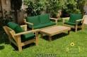 סט פינת ישיבה וויד מזרנים חלקים וכריות מזוודה צבע ירוק בקבוק 117 להמחשה בלבד