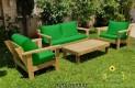 סט פינת ישיבה וויד מזרנים חלקים וכריות מזוודה צבע ירוק דשא 124 להמחשה בלבד