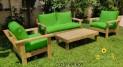 סט פינת ישיבה וויד מזרני קפיטונז' וכריות מזוודה ירוק דשא 124 להמחשה בלבד
