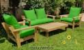 סט פינת ישיבה וויד מזרני קפיטונז' וכריות 70/70 ירוק דשא 124 להמחשה בלבד