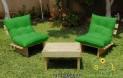 פינת ישיבה קלאסיקו יין עם ריפודי קפיטונז' בבד דוחה מים צבע ירוק דשא 124 להמחשה בלבד
