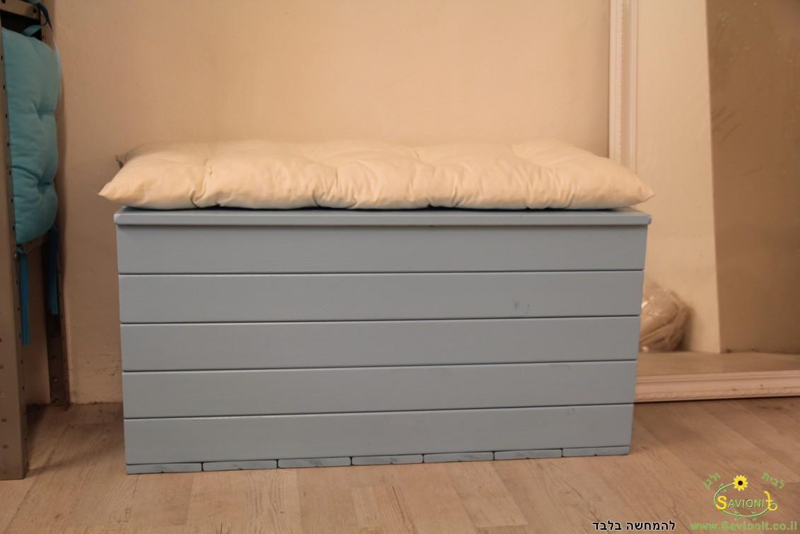 ספסל אחסון 1 מטר + כרית