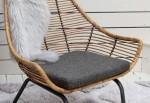 כורסא מעוצבת דגם טקסס - ריפוד אפור כהה