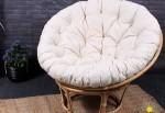 כורסא דגם ג'ון ריפוד לבן שמנת