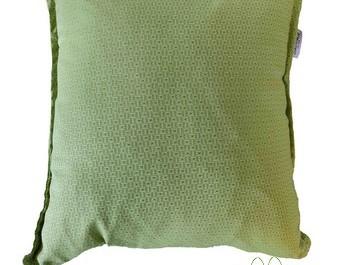 כרית נוי פסיפס ירוק בד ריפוד