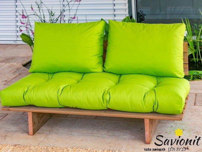 ספסל זולה ענק ריפוד פרימיום צבע ירוק תפוח