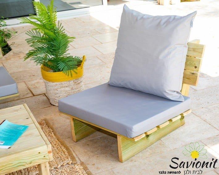 כורסא בודדת של פינת זולה ענקית מעץ מלא ריפוד סטנדרט