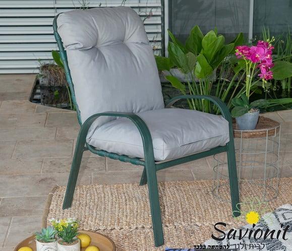 ריפוד לכיסא גן אפור בהיר