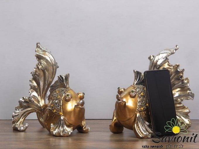 זוג דגי זהב ברונזה