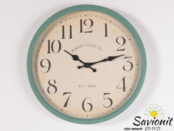שעון קיר קוטר 35 מנטה